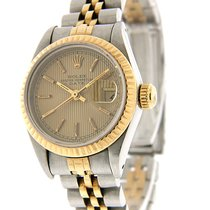 Rolex Steel Automatic Gold 28mm pre-owned Lady-Datejust