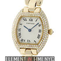 Cartier Tortue Yellow gold 24mm Silver Roman numerals United States of America, New York, New York