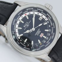 Ball Trainmaster Worldtime Acero 41mm Negro