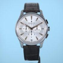 Zenith Captain Chronograph Stahl 42mm Silber Keine Ziffern Deutschland