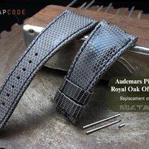 MiLTAT AP Royal Oak Offshore Leather Band, Grey Lizard