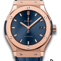 Hublot Yellow gold Automatic Blue 45mm new Classic Fusion Blue