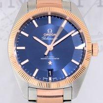 Omega Globemaster Gold/Steel 39mm Blue No numerals