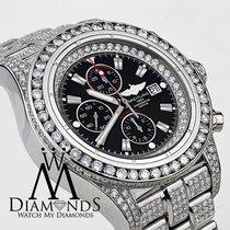 Breitling Men's Diamond Breitling Super Avenger Watch Black...