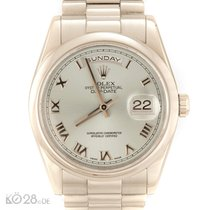 Rolex Day-Date 118206 Platinum Ice Blue Dial 36mm K-Series ca...