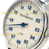 Meistersinger N02 MANUAL MOVEMENT IVORY DIAL ARAB BLUE AM 6603N
