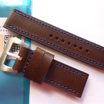 Portotempo Bodhy Brown strap with BLUE stitching for Panerai...