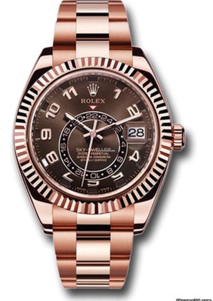 Rolex Sky,Dweller Everose Gold Bracelet Rare Chocolate Dial