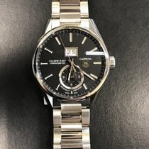 TAG Heuer Carrera Calibre 8 Stål 41mm Svart Ingen tall