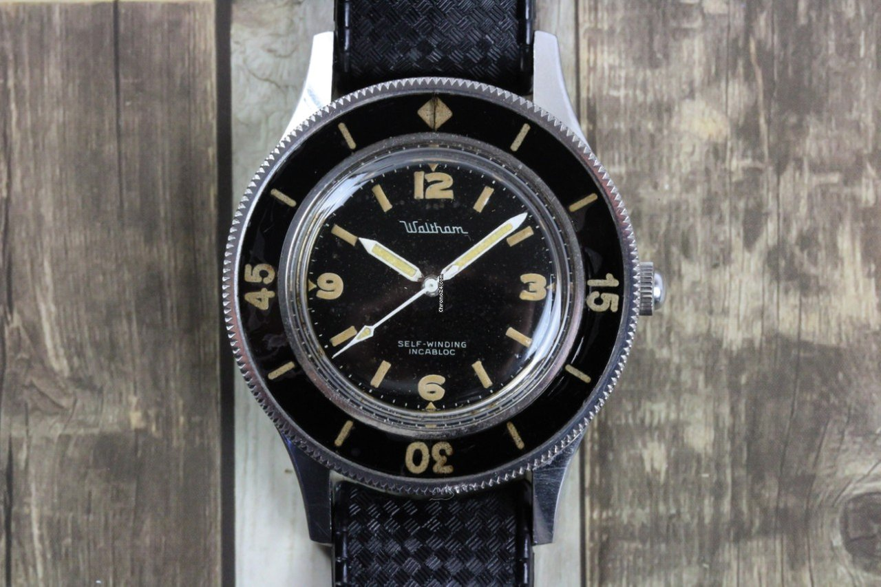 Vintage Tudor Watches >> Blancpain Waltham-Blancpain Vintage Fifty Fathoms Diver ...