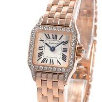 Cartier Rose gold Quartz pre-owned Santos Demoiselle