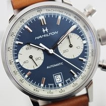 Hamilton Intra-Matic Steel 40mm Blue No numerals