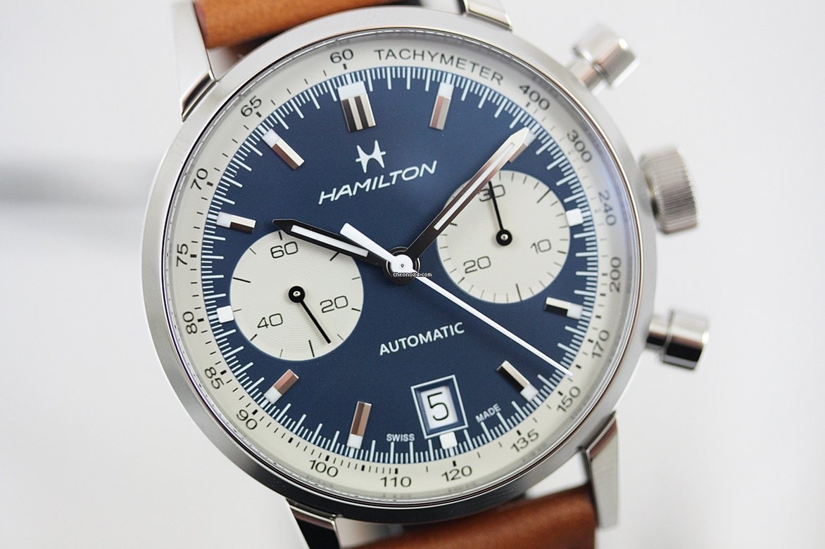 59f85c7a8 Hamilton Intra-Matic Auto Chrono Panda Dial ref. H38416541 for $1,861 for  sale from a Trusted Seller on Chrono24