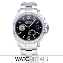 Panerai Luminor Power Reserve Steel 40mm Black Arabic numerals