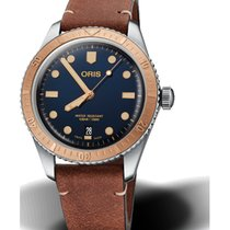 Oris Steel Automatic Blue No numerals 40mm new Divers Sixty Five