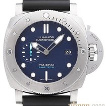 Panerai Luminor Submersible 1950 3 Days Automatic 42mm Blue Arabic numerals