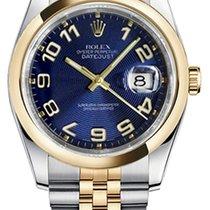 Rolex Datejust Stål 36mm Blå Arabisk