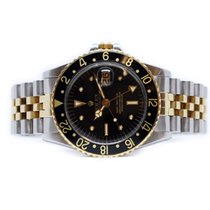 Rolex GMT-Master pre-owned 40mm Date GMT Gold/Steel