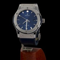Hublot Steel Automatic Blue No numerals 42mm pre-owned Classic Fusion Blue