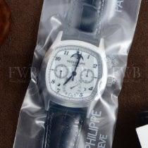 Patek Philippe Platin Elle kurmalı Beyaz Arapça 37mm yeni Perpetual Calendar Chronograph