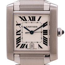 Cartier 2302 Steel 2005 Tank Française 28mm pre-owned United States of America, California, West Hollywood