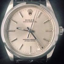 Rolex Oyster Perpetual 34 Stal 34mm Srebrny Bez cyfr