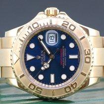 Rolex Yacht-Master gebraucht 40mm Blau Datum Gelbgold