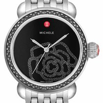 Michele Acciaio 36mm Quarzo MICHELE CSX JARDIN DIAMOND NOIR BLACK DIAMOND MWW03T000027 nuovo