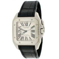 Cartier Steel Automatic White Roman numerals 33mm pre-owned Santos 100