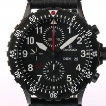 Damasko DC66 Si Black Chronograph Stahl Automatik Faltschließe...