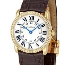 Cartier Ronde Louis Cartier Yellow gold 29mm Silver Roman numerals United States of America, New York, Greenvale