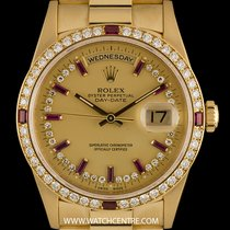 Rolex 18k Y/G Rare Dia & Ruby String Dial & Bezel...