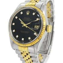 Rolex 18K Gold / SS 16013G, Diamond Index, with Paper