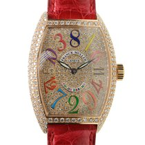 Franck Muller Cintree Curvex Pink Gold Diamond Gold Automatic...