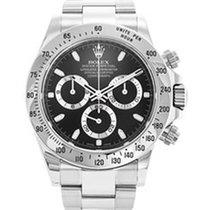 Rolex Gents Rolex Daytona black dial stainless steel bracelet...