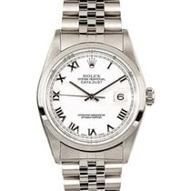 Rolex 16200_used_white_roman Datejust 36mm in Steel with...