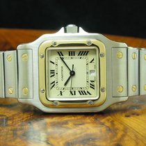 Cartier 31.5mm Quarz 1998 gebraucht Santos Galbée Champagnerfarben