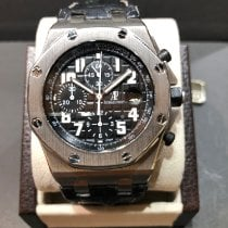 Audemars Piguet Steel Automatic Black Arabic numerals pre-owned Royal Oak Offshore Chronograph