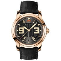 Blancpain L-Evolution pre-owned Black Fold clasp
