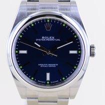 Rolex Oyster Perpetual 39 Stahl 39mm Blau Keine Ziffern Deutschland, Langenfeld