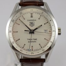 TAG Heuer Carrera Calibre 7 pre-owned 39mm Date GMT Leather
