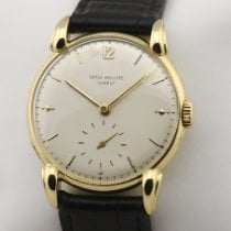 Patek Philippe Yellow gold 35mm Manual winding 1590 Vintage Herrenuhr cal. 12-120 pre-owned
