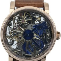 Schaumburg new Manual winding Skeletonized Display Back 42mm Steel Sapphire crystal