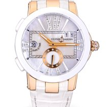 Ulysse Nardin Executive Dual Time Lady Rose gold 40mm Mother of pearl Roman numerals