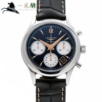 Longines Column-Wheel Chronograph pre-owned 40mm Black Leather