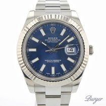 Rolex Datejust II Gold/Steel 41mm Blue No numerals