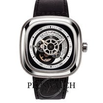 Sevenfriday P1B-1 Stal 47mm Czarny