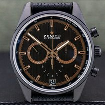 Zenith Ceramic Automatic Grey Arabic numerals 42mm pre-owned El Primero Chronomaster