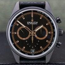 Zenith El Primero Chronomaster pre-owned 42mm Grey Chronograph Tachymeter Calf skin