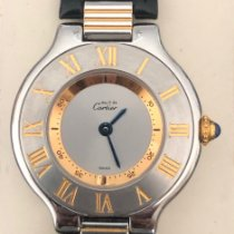 Cartier 21 Must de Cartier pre-owned 28mm Silver Leather